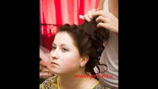 PRICH Создание свадебной причеки Как плести косички.wmv