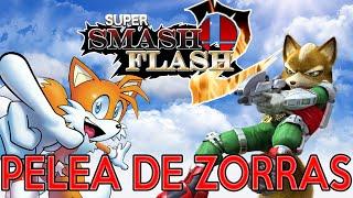 SUPER SMASH FLASH 2 - PELEA DE ZORRAS - FOX VS TAILS