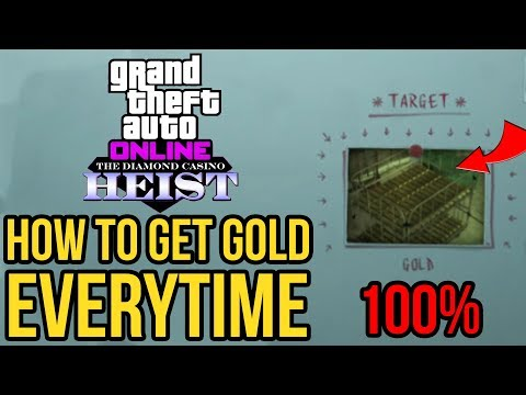 How to Get the Vault Content GOLD 100% of the Time in GTA 5 Online - The Diamond Casino Heist
