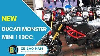 Tiếng Động Cơ Ducati Monster Mini 110cc 2 New ► Nổ cực chất - Đồng hồ Led đẹp