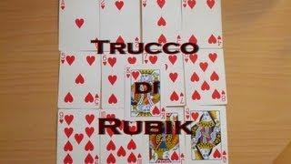 TUTORIAL trucco del mazzo di RUBIK - cubo di rubik con le carte - magia illusionismo svelato