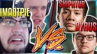 IMAQTPIE & RED (MY SUPP YASUO) VS DYRUS & SHIPHTUR! ULTIMATE SHOWDOWN!! League of Legends