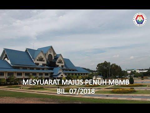 Mesyuarat Majlis Penuh MBMB Bil. 07/2018