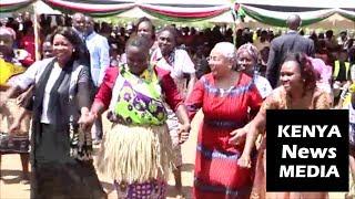 First Lady Margaret Kenyatta and Auxillia Mnangagwa of zimbabwe JOINS DANCE in Tharaka Nithi!!!