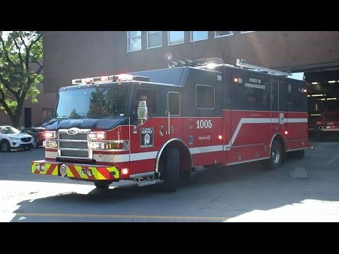 Montreal Fire Department - 2015 Pierce Velocity Command Post 1005 Returning to Station 5