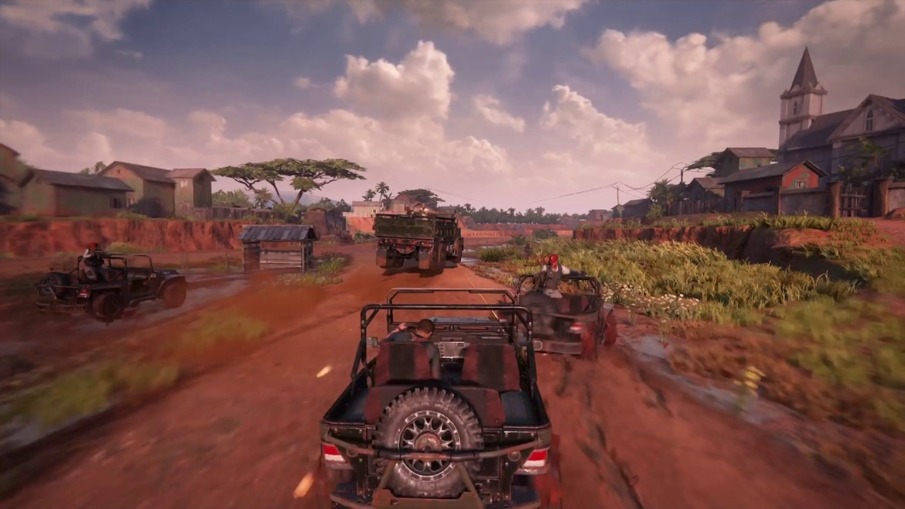 Uncharted 4 A Thief S End Insane Car Chase Gameplay 1080p Hd