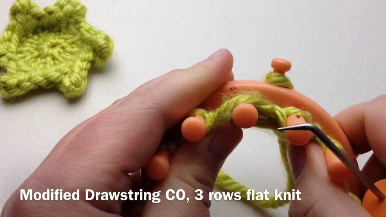Loom Knitting Picot Star 6 Pointed Flower Youtube