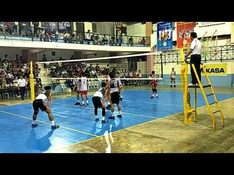 NATIONAL PRISAA 2018 VOLLEYBALL MEN SEMI-FINALS held at TAGBILARAN BOHOL REGION 11 vs. REGION 4A