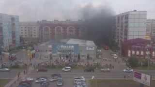 Горит ТЦ Пассаж на Комсомольском в Тобольске