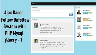 Ajax Based Follow Unfollow System with PHP Mysql jquery - 1