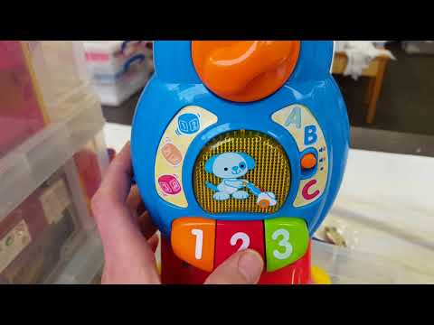 Vtech musical ABC 123 vacuum cleaner hoover toy on Widnes market