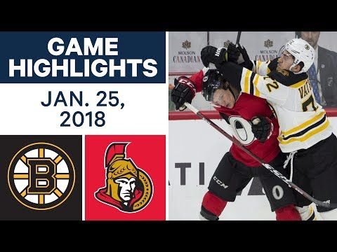 NHL Game Highlights | Bruins vs. Senators - Jan. 25, 2018
