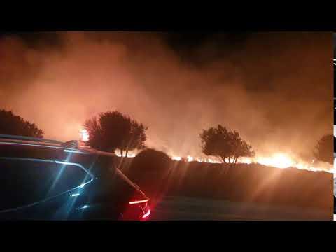 שריפה ליד הקשתות קיסריה