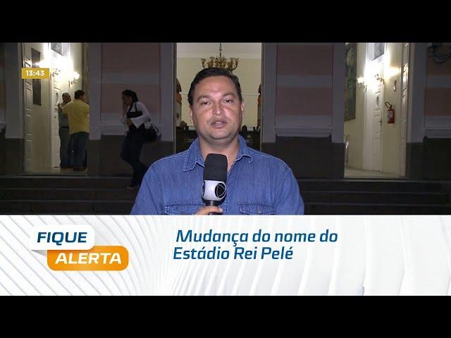 Emenda surge para tentar conciliar polêmica na mudança do nome do Estádio Rei Pelé
