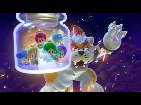 Super Mario 3D World : Final Bowser Battle - Ending Credits [WII U]