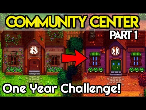 Completing The Community Center In The FIRST Year - Part 1 - Stardew Valley