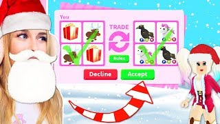 I Dressed Up As SANTA And Traded Presents In Adopt Me! (Roblox)