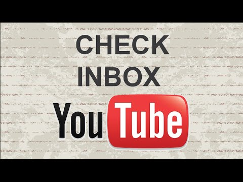How To Check Youtube Inbox | Fast And Easy