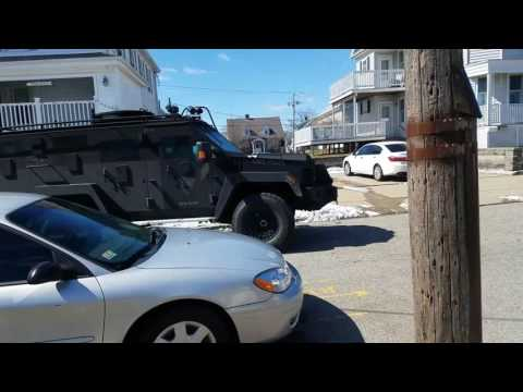 MA State Police SWAT Team Moves In On New Bedford Murder Suspect