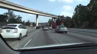 アメリカ・ドライブの旅002 I-405とI-10のジャンクション走行