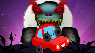 Little Red Car | Halloween Is Back | Haunted House Monster Truck | Halloween Videos For Children