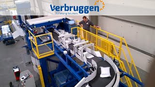 Palletizing | High speed palletizer VPM-14 by verbruggen | palletizing 50 bags per minute