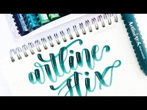 Brush Pen Lettering For Beginners: Artline Stix Brush Marker