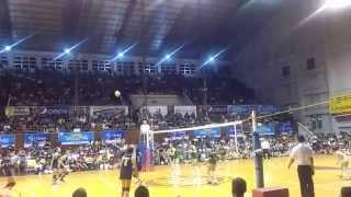 141028 unigames volleyball finals w dlsu nu set 3 4