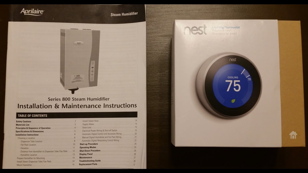 medium resolution of google nest thermostat 3rd gen aprilaire 800 whole house rh youtube com nest thermostat wiring installation