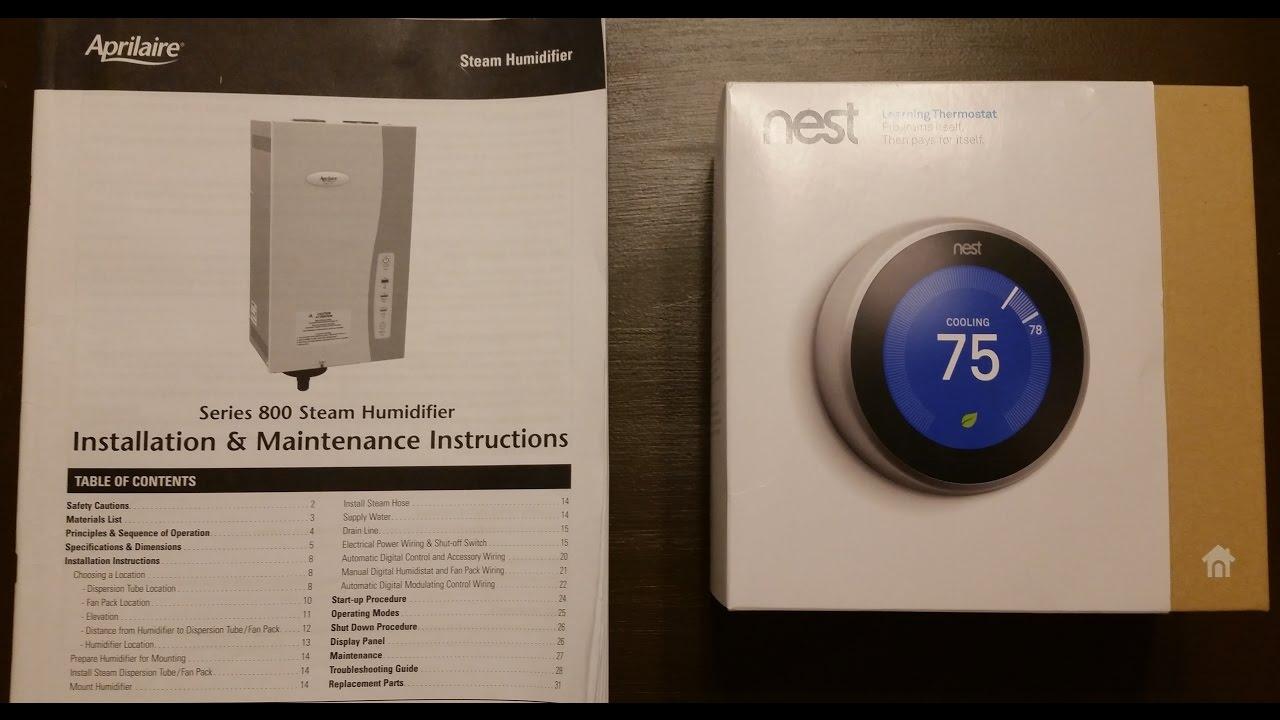 Google Nest Thermostat 3rd gen  Aprilaire 800 whole house