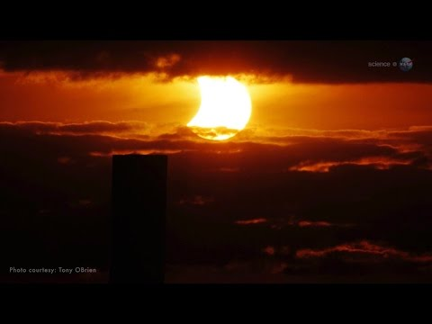 Video: Solar eclipse on October 23