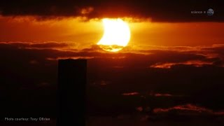 ScienceCasts: Sunset Solar Eclipse