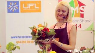 Букет в каркасе в деревенском стиле - мастер класс от UFL, выставка ProMaisonShow 2014