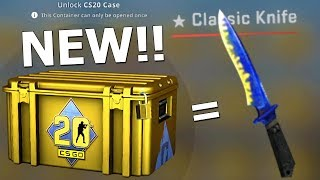 i opened 50 new CS20 cases and i got a knife.