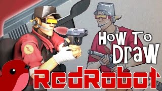 How To Draw Red Robot
