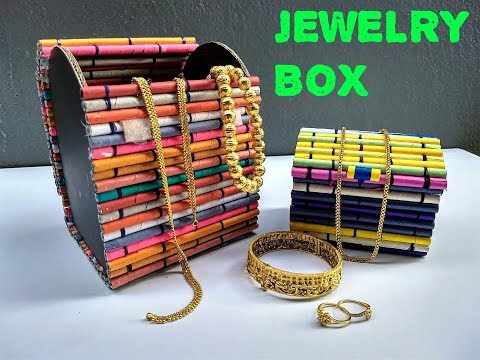 How to make a jewelry box out of paper || DIY || Best out of waste ||IRIS Craft Corner  9