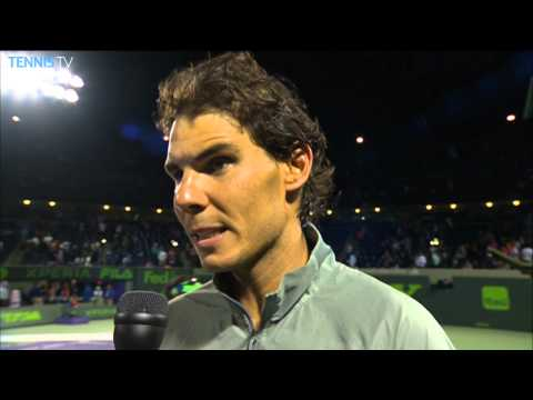 Nadal Looks Back On Quarter-final Against Raonic in Miami