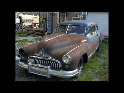 1947 Buick Roadmaster with Straight 8 start up