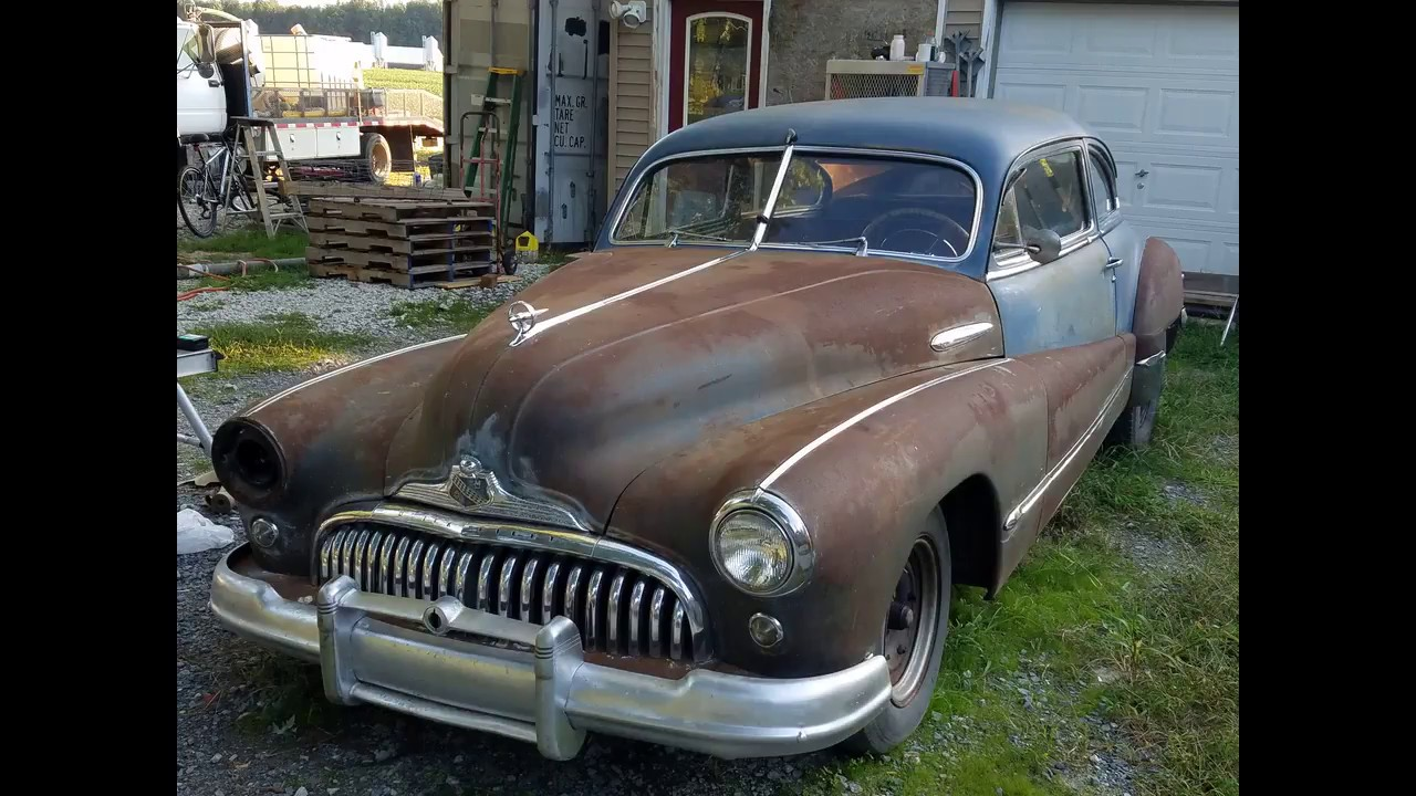 1947 buick roadmaster with straight 8 start up youtube. Black Bedroom Furniture Sets. Home Design Ideas