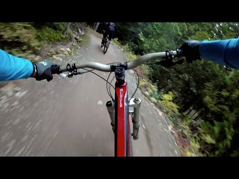 "Charging Whistler's ""Dirt Merchant"" Trail 