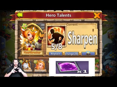 JT's Free 2 Play Event Hero Cards Sharpen Talent Decision Castle CLash