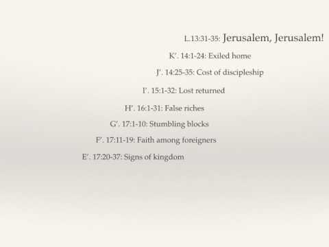 Jesus to Jerusalem Luke