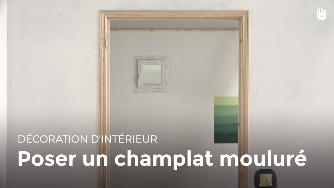 Poser un champlat moulur bricolage youtube for Moulure fenetre interieur