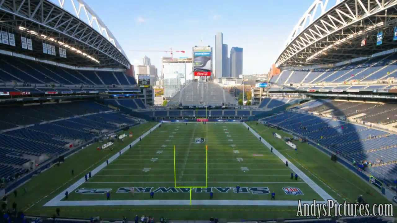 Nfl Time Lapse Centurylink Field End Zone Youtube