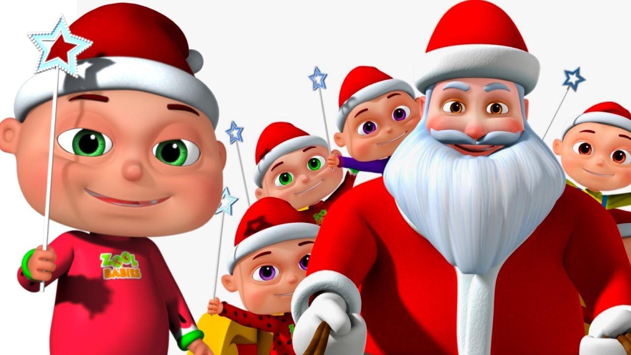 Five Little Babies Christmas Song | Jingle Bells | Nursery Rhymes ...