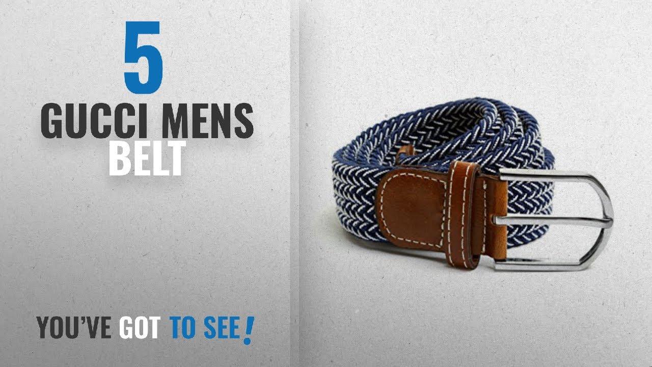 65b2f90e18c Top 10 Gucci Mens Belt [2018]: Elasticated Woven Fabric Belt - Part ...