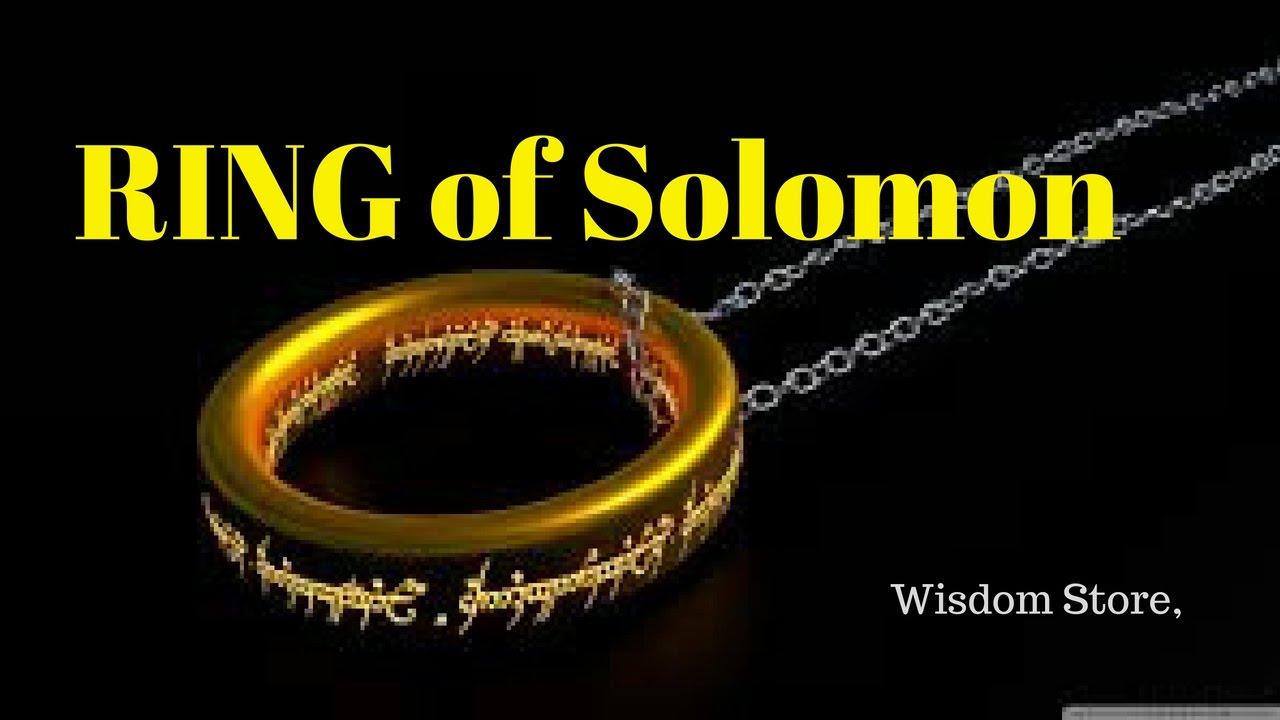 RING of Solomon- Wisdom Store, collect wisdom quote ...