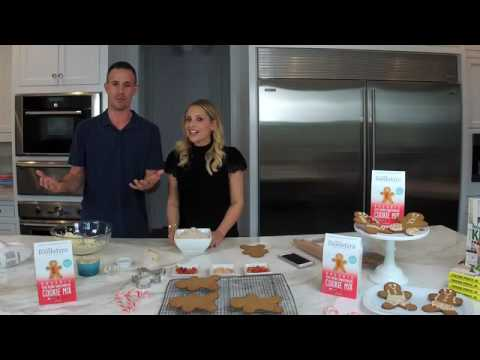 How to Make Gingerbread Recipes with Foodstirs Founder Sarah Michelle Gellar and her Prinze Charming