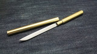 Making a Brass Tube Knife / 금장도 만들기