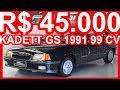 PASTORE R$ 45.000 Chevrolet Kadett GS 1991 Preto Formal aro 14 MT5 FWD 2.0 99 cv 16,2 mkgf #Kadett